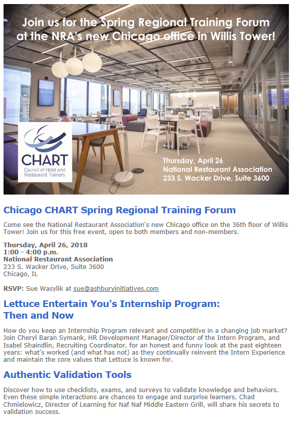 Chicago RTF April 2018