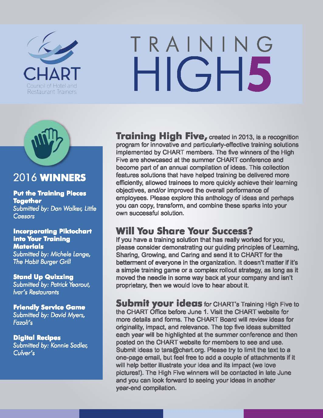 Training High 5 eBook